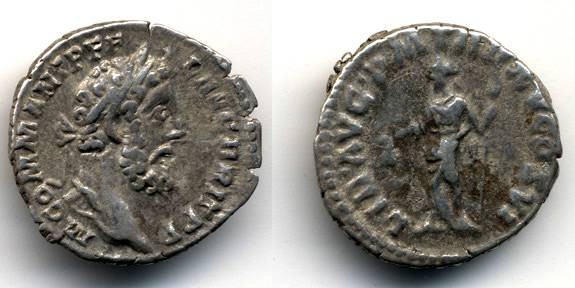 Ancient Coins - Commodus AR Denarius, Libertas