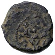 Ancient Coins - Alexander Jannaeus AE Prutah, Neat overstruck on Lily type, see notes, 103 - 76 B.C.E.