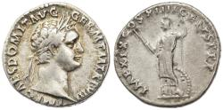 Ancient Coins - Domitian AR Denarius, Very Fine, 88/89 C.E.