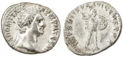 Ancient Coins - Domitian AR Denarius, About Extremely Fine, 92/93 C.E.