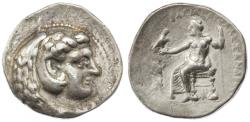 Ancient Coins - Alexander III the Great AR Tetradrachm, About Very Fine, Tarsos Mint,  323 - 317 B.C.E.