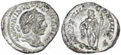 Ancient Coins - Caracalla AR Denarius, EF, 216 C.E.