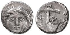 Ancient Coins - Apollonia Pontika, Thrace AR Diobol, Very Fine+, 4th Century B.C.E.