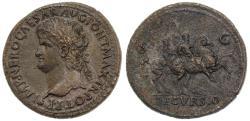 Ancient Coins - Nero AE Sestertius, Extremely Fine in Fine Style, Circa. 66 C.E.