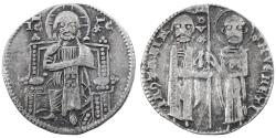 World Coins - Venice, Italy, Jacopo Contarini AR Grosso, Very Fine, 1270 - 1280 C.E.