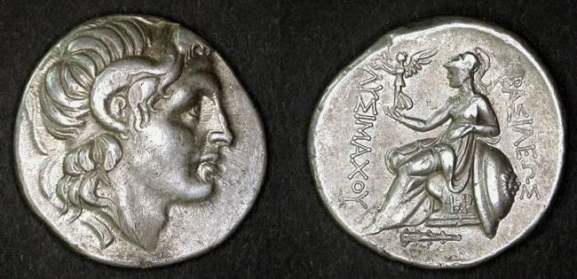 Ancient Coins - Lysimachos Tetradrachm, VF Lustrous, Heraclea Mint