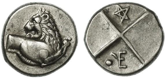 Ancient Coins - Chersonesos, Thrace AR Hemidrachm, Good Extremely Fine, 386 - 336 B.C.E.