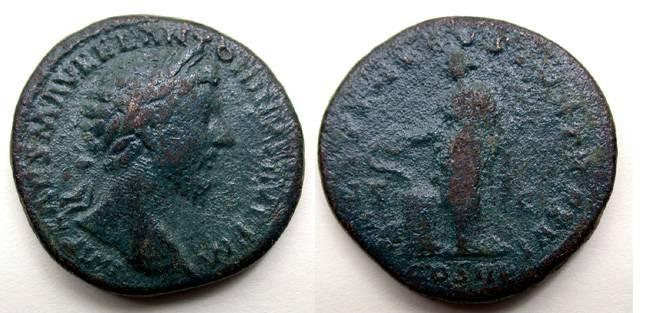 Ancient Coins - Marcus Aurelius Sestertius, ex. Museum