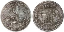 World Coins - Erzherzog Leopold AR Taler, Austria, Choice Near EF, 1632
