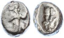 Ancient Coins - Achaemenid Kings of Persia, AR Siglos, Darios - Xerxes I, Good Fine, RARE Var. see notes, 485 - 420 B.C.E