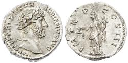 Ancient Coins - Hadrian AR Denarius, FDC, 119 - 122 C.E.
