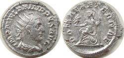 """Ancient Coins - Philip I AR Antoninianus, AEF/EF, """"Roma"""", 244 - 247 C.E."""