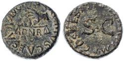 Ancient Coins - Claudius AE Quadrans, Extremely Fine, Circa. 41 C.E.