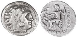 Ancient Coins - Lysimachos AR Drachm, VF, Lampsakos Mint, 301 - 296 B.C.E.