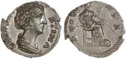 Ancient Coins - Faustina Senior AR Denarius, BOLD EF/AEF