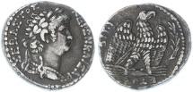 Ancient Coins - Nero AR Tetradrachm / Sela, GVF, Nice style, full legends, 63/64 C.E.