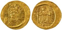 Ancient Coins - Maurice Tiberius AV Gold Solidus, Lustrous Ch. EF, 582 - 602 C.E.