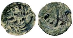 Ancient Coins - Pontius Pilate Prefect under Tiberius AE Prutah, Very RARE Crude type LIZ, 30/31 C.E.
