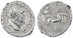"Ancient Coins - Vespasian ""Judaea Capta"" AR Denarius, SCARCE, About Extremely Fine, Antioch Mint, 72/73 C.E."
