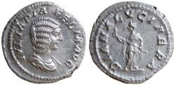 Ancient Coins - Julia Domna AR Denarius, AEF, 211 - 217 C.E.