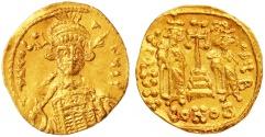 Ancient Coins - Constantine IV Pogonatus AV Solidus, AEF/EF, 674 - 681 C.E.