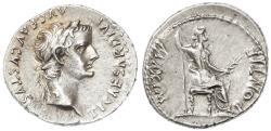"Ancient Coins - Tiberius AR Denarius, Choice Extremely Fine, ""Tribute Penny"", 14 - 37 C.E."