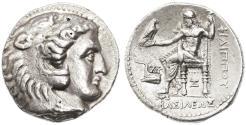 Ancient Coins - Seleukos I Nikator as Satrap in the name of Philip AR Tetradrachm, Near EF, Babylon II Mint (Arados), SCARCE, 318/7 - 315 B.C.E.