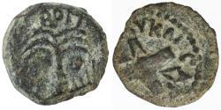 Ancient Coins - Antonius Felix AE Prutah with name of Britannicus, VF, 54 C.E.