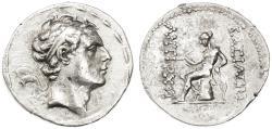 Ancient Coins - Antiochos IV AR Tetradrachm, EF/VF+, RARE - see notes, 175 - 164 B.C.E.