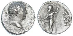 Ancient Coins - Vespasian AR Denarius, BOLD AEF/VF, 72/73 C.E.