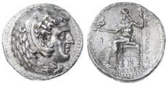Ancient Coins - Alexander III the Great AR Tetradrachm, AEF in Fine Style, Late Lifetime issue 325 - 323 B.C.E.