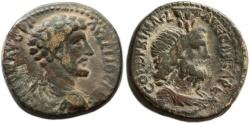 Ancient Coins - Marcus Aurelius, Caesarea Maritima AE, AVF/VF, 161 - 180 C.E.
