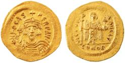 Ancient Coins - Phocas AV Gold Solidus, Extremely Fine, 603 - 607 C.E.