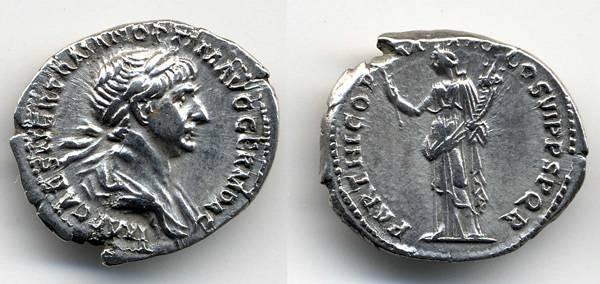 Ancient Coins - Trajan AR Denarius, EF