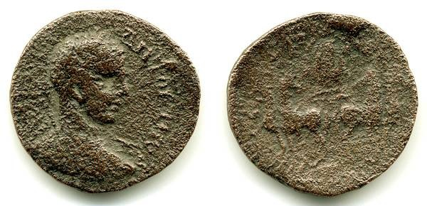 Ancient Coins - Aelia Capitolina, Elgabalus, Interesting type, VG
