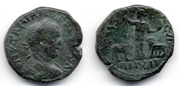 Ancient Coins - Trajan Decius, Viminacium, Moesia Superior, F/AVF, AE 27