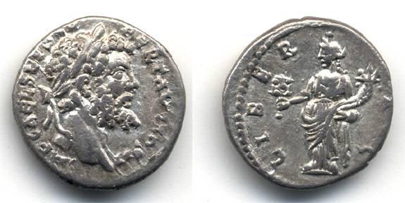 Ancient Coins - Septimius Severus AR Denarius, VF,