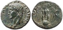 Ancient Coins - Augustus AE AS by Tiberius, SCARCE EF/AEF, 34 - 37 C.E.