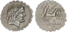 Ancient Coins - Q. Antonius Balbus AR Denarius, VF, 82 B.C.E.