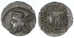 Ancient Coins - Artabanos V AR Parthian  Drachm, Very SCARCE, AEF, 79-85 C.E.