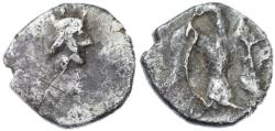 Ancient Coins - Yehud AR 1/2 Gerah, Persian Period, Near Very Fine, 4th Century B.C.E.