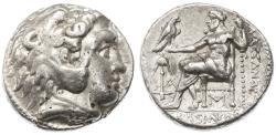 Ancient Coins - Seleukos I Nikator AR Tetradrachm in the name of Alexander, BOLD GVF, Babylon, 311 - 300 B.C.E.