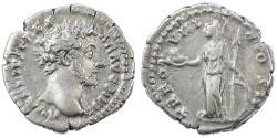Ancient Coins - Marcus Aurelius as Caesar AR Denarius, VF+/VF, 154/155 C.E.
