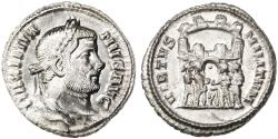 Ancient Coins - Maximian AR Argenteus, Extremely Fine, First Reign, Siscia, 294 C.E.