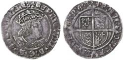 World Coins - England, Tudor, Henry VIII AR Groat, Very Fine+, 1526 - 1544 C.E.