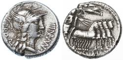 Ancient Coins - L. Cornelius Sulla Imperator & L. Manlius Torquatus AR Denarius, Very Fine, 82 B.C.E.