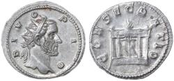 Ancient Coins - Antonius Pius AR Antoninianus by Trajan Decius, Choice AEF, 250/251 C.E.
