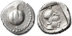Ancient Coins - Side, Pamphylia AR Stater, VF+/VF, 430 - 400 B.C.E.