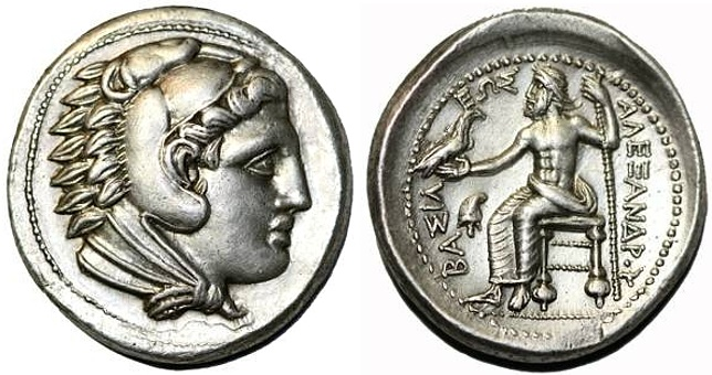 Ancient Coins - Alexander the Great AR Tetradrachm, SUPERB EF, 323 - 320 B.C.E.