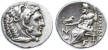 Ancient Coins - Alexander III the Great AR Drachm, Scarce LIFETIME issue, Extremely Fine, Sardes Mint, 334 - 323 B.C.E.